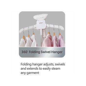 SALAV GS25-DJ Performance Garment Steamer with 360 Swivel Hanger, 4-Steam Setting