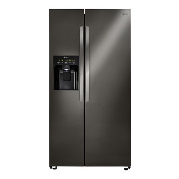 Lg LSXS26336D Side by Side Refrigerator with 26 cu. ft. Capacity in Black Stainless