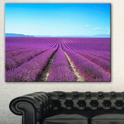 Design Art Designart Lavender Flower Blooming Fields AbstractCanvas Artwork