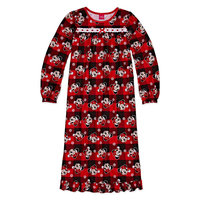 Fisher-price Disney Long Sleeve Minnie Mouse Nightgown-Big Kid Girls