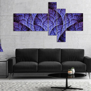 Design Art Designart Exotic Purple Biological Organism Multipanel Abstract Art On Canvas - 4 Panels