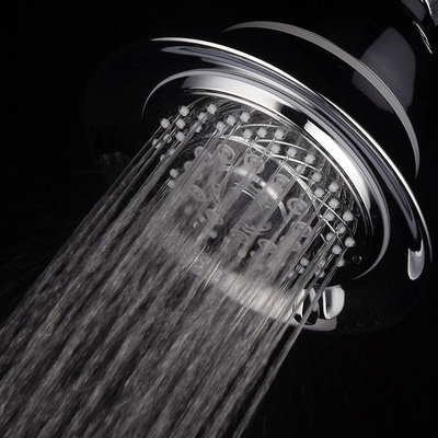 Interlink Products AquaCare By HotelSpa Filtered Shower-Head Extra-Large 5 Inch Chrome Face 6-Setting Showerhead with