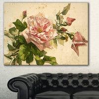 Design Art Designart Pink Flower Illustration Floral PaintingCanvas