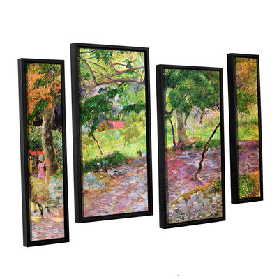 Brushstone Tropical Landscape; Martinique 4-pc. Floater Framed Staggered Canvas Wall Art