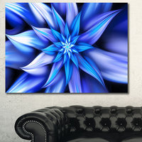 Design Art Designart Dancing Blue Flower Petals Floral CanvasArt Print