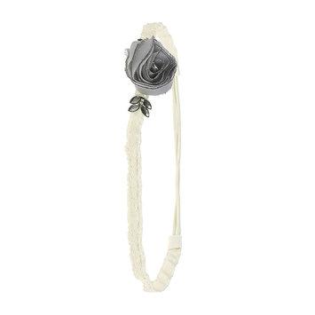 Asstd Private Brand Chiffon Flower Ribbon Headband