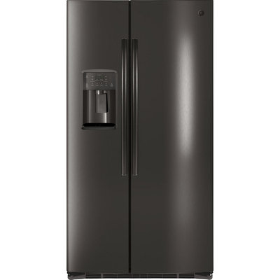 GSE25HBLTS Side By Side Refrigerator with 24.7 cu. ft. and Gloss HID