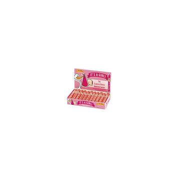 Asstd National Brand It's a Girl Pink Bubble Gum Cigar Box 36 Count