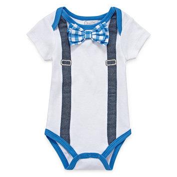 Baby Boy (0-9M) Quiltex Bow Tie Bodysuit 3-6 Months, White