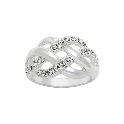 city x city Crystal Woven Ring