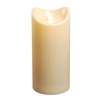 Lumabase Action Flame Flameless Pillar Candle, 7