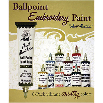 Asstd National Brand Aunt Martha's Ballpoint Paint Tubes-Country Colors