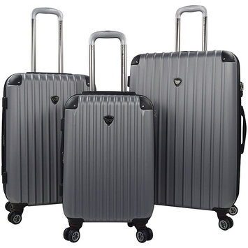 Travelers Club Chicago 20 - 3-Piece Hardside Expandable Spinner Set - Silver
