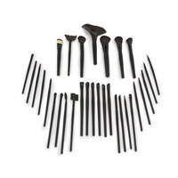 Ggi International Matney 32 Professional Makeup Brush Set Kit with Case - Great for Applying Any Type of Makeup