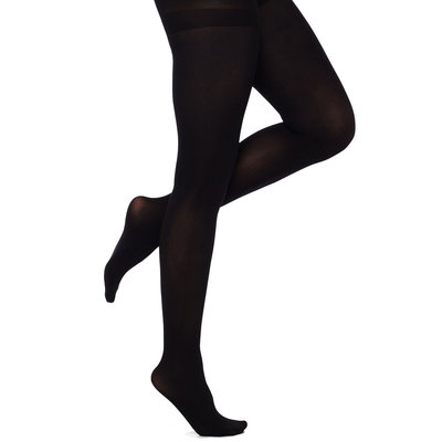 Solid Control Top Opaque Tights