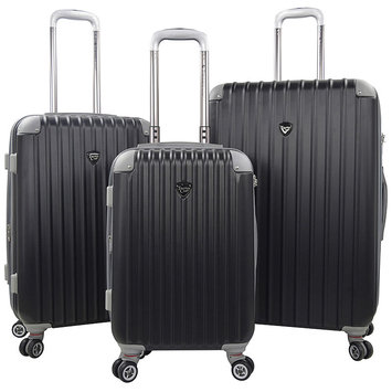 Travelers Club Chicago 20 - 3-Piece Hardside Expandable Spinner Set - Black