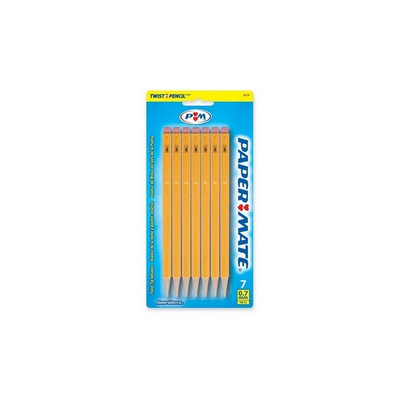 Paper Mate Sharpwriter Disposable Pencil - #2 Pencil Grade - 0.7mm Lead Size - Yellow Barrel - 3 / Pack