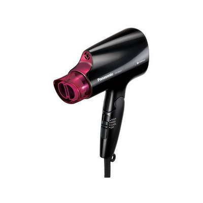 Panasonic Nanoe™ Compact Hair Dryer with Quick-Dry Nozzle and Folding Handle