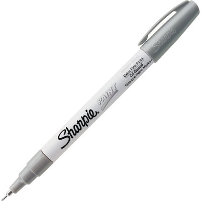 Sharpie Extra Fine Oil-Based Paint Markers - Metallic Silver Oil Based Ink - 1 Each