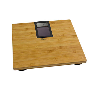 Escali Solar Bath Scale ECO180 - 400 lb / 180 kg Maximum Weight Capacity - Natural Bamboo