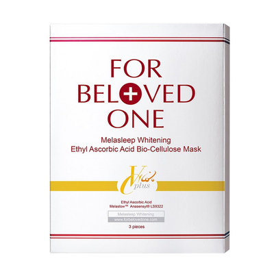 For Beloved One Melasleep Whitening Ethyl Ascorbic Acid Boi Celluslose Mask 3pcs