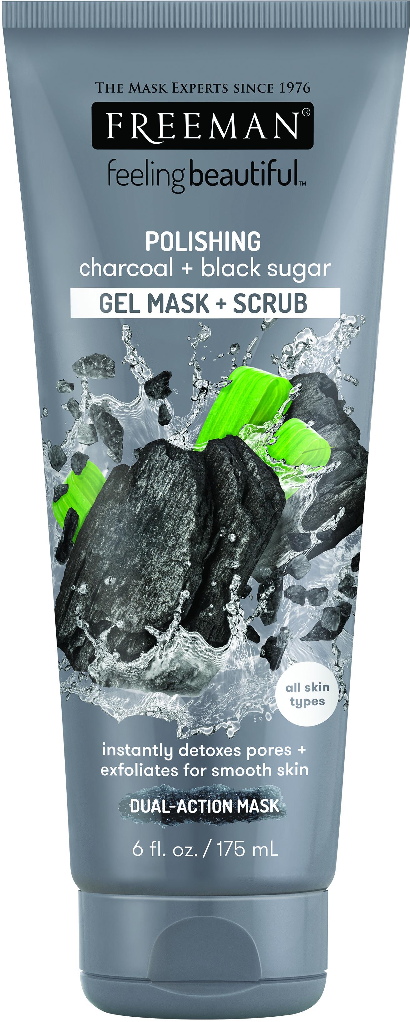 Freeman Feeling Beautiful™ Polishing Charcoal & Black Sugar Gel Mask + Scrub