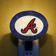 Memory MLB-ABR-246 Art-Glass Nightlight-Braves