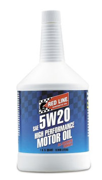 Red Line Oil 15204 Synthetic Motor Oil 5W20 Case of 12 Quarts