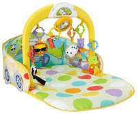 Fisher-Price 3-in-1 Convertible Car Gym, Yellow/Multicolored