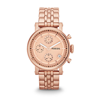 Fossil Original Boyfriend Rose Chronograph Ladies Watch ES3380