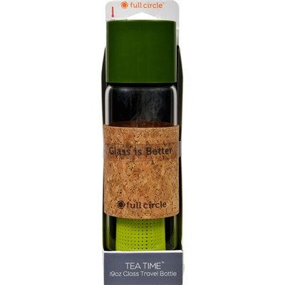 Full Circle Home Tea Bottle - Travel - Glass - Tea Time - Sencha Green - 19 oz Food Preparation