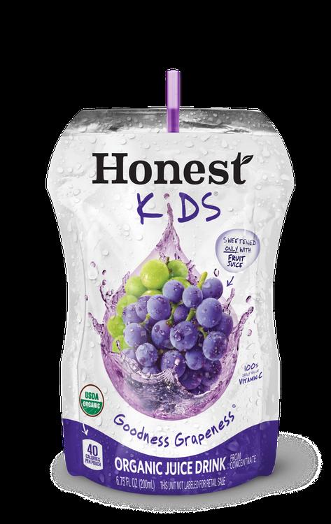 Honest Kids Goodness Grapeness Organic Juice Pouches