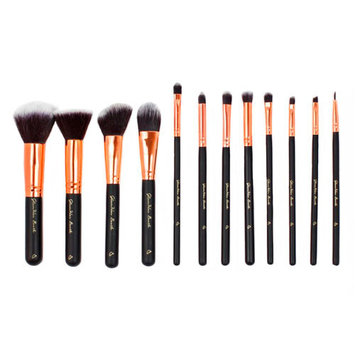 Glamher Booth Luxe Matte Black Travel Brush Set