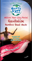 Earth Kiss Mask, Revitalise Bmboo Sht - - 0.59 oz)