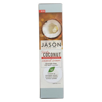 Simply Coconut Whitening Coconut Cream Toothpaste Jason Natural Cosmetics 4.2 oz Paste