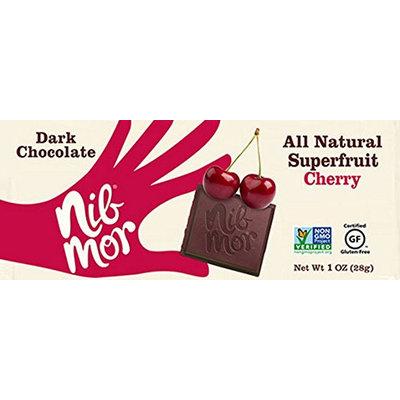 NibMor Gluten Free Dark Chocolate, Cherry, 1 Oz