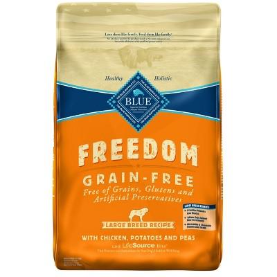 Blue Buffalo Freedom Large Breed Adult Chicken, Potatoes & Peas Dry Dog Food - 24lbs