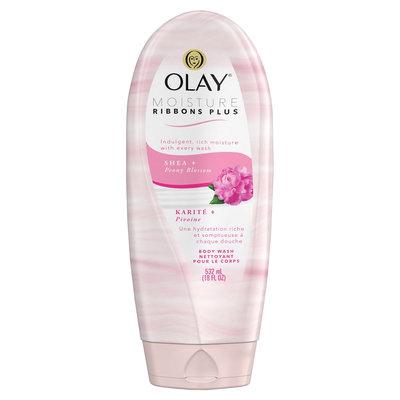 Olay Moisture Ribbons Plus Shea + Peony Blossom Body Wash - 18oz