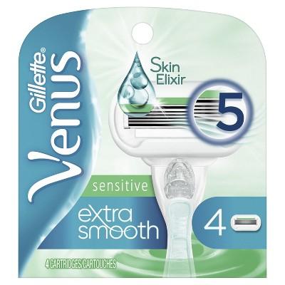 Venus Extra Smooth Sensitive Women's Razor Blade Refills - 4ct