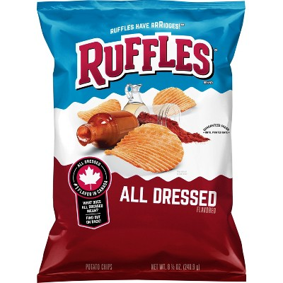 Ruffles All Dressed Potato Chips - 8.5oz