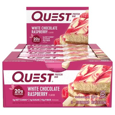 Quest Protein Bar - White Chocolate Raspberry - 12ct