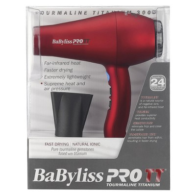 BaByliss Pro Tourmaline Titanium 3000 Dryer Red