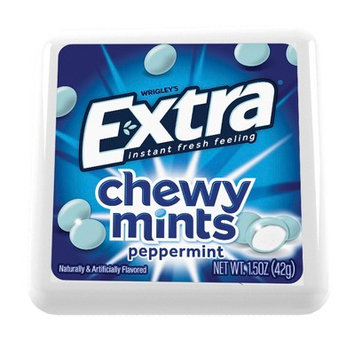 Wrigley's Extra Chewy Mints Peppermint (9)1.5 Oz - Sealed Exp 12/2018