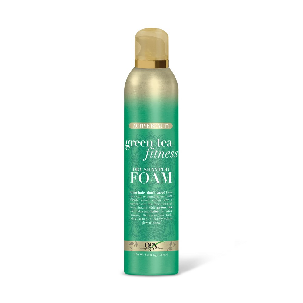 Ogx Green Tea Fitness Dry Shampoo Foam - 5oz