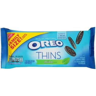 Oreo Thins Mint Crème Chocolate Sandwich Cookies - 13.1oz