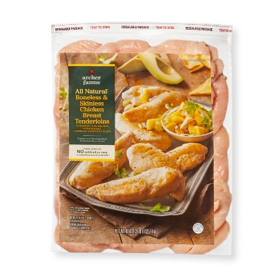 Boneless-Skinless Frozen Chicken Breast Tenderloins - 2.5lbs - Archer Farms™