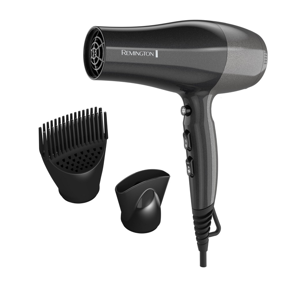 Remington Pro Hair Dryer with Touch Style Technology - Black
