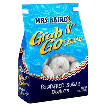 Mrs. Baird's Mrs Baird?s Grab N' Go Favorites Powdered Sugar Donuts, 10 oz