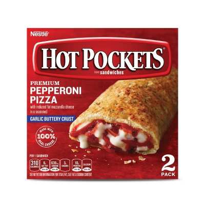 Hot Pockets Garlic Buttery Crust Pepperoni Pizza Sandwiches - 9oz/2ct