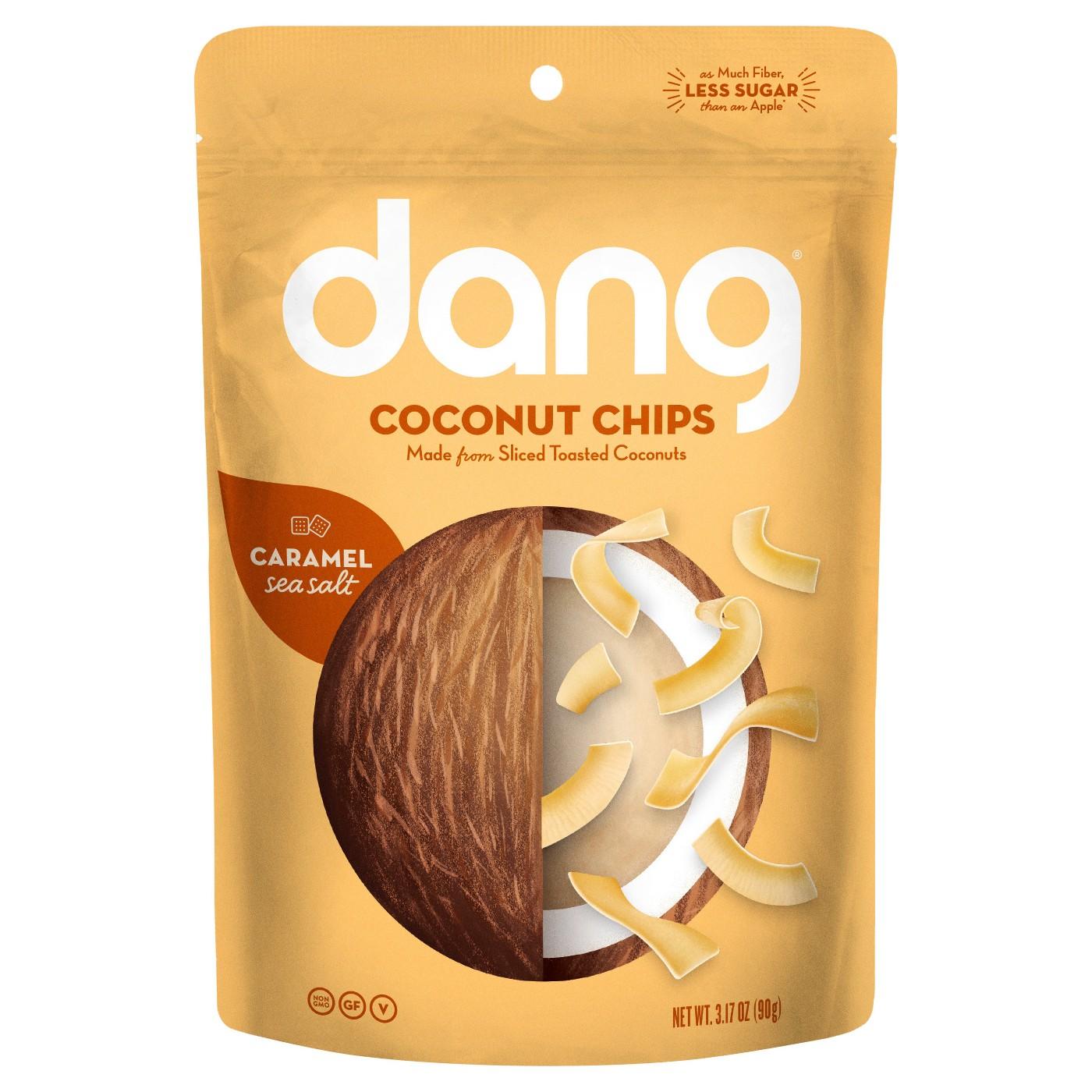 Dang Coconut Chips - Caramel Sea Salt - 3.17 oz Family Size
